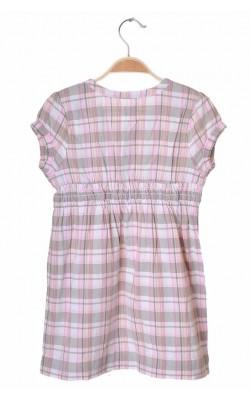 Rochie bumbac roz cu kaki H&M L.o.g.g., 7-8 ani
