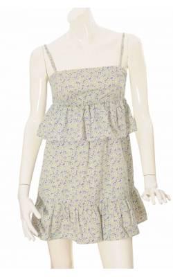 Rochie cu volane print floral Gina Tricot, marime 36