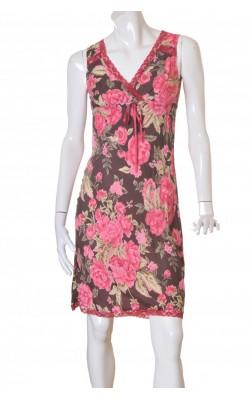 Rochie din vascoza H&M, imprimeu floral, marime 36