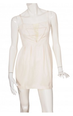 Rochie ivory Gina Tricot, ocazii speciale, marime 38