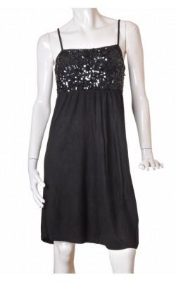 Rochie jerse negru decor paiete Lindex, marime M