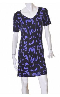 Rochie Linnea, tricot mov cu negru, marime XL