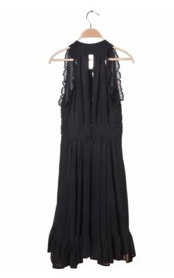 Rochie Luxe by Vero Moda, chiffon negru, marime 34