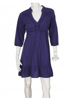 Rochie bumbac texturat mov Only, marime L