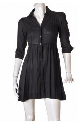 Rochie neagra bumbac subtire H&M, marime 36