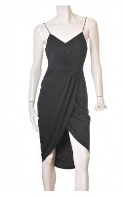 Rochie neagra cocktail H&M, marime 38