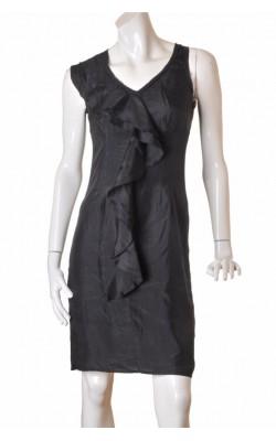 Rochie neagra din matase naturala Inwear, marime 38