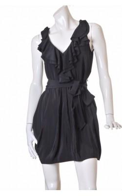Rochie neagra guler cu volan H&M, marime 38