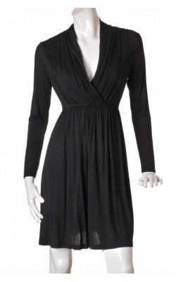 Rochie neagra guler V drapat H&M, marime 40