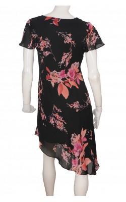 Rochie neagra imprimeu floral CDC, marime 38