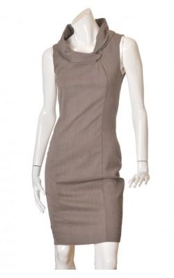 Rochie office Zara, tesatura lana amestec, marime 36