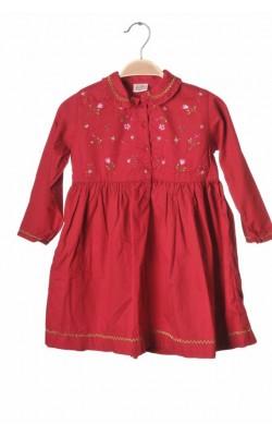 Rochie rosie din bumbac H&M, 3 ani