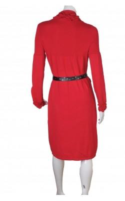 Rochie rosie tricot fin vascoza stretch Mac Scott, marime L