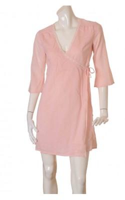 Rochie roz cu dantela Vero Moda, marime 38