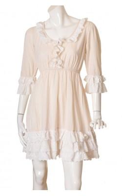 Rochie roz pal cu borduri dantela  By TiMo, marime 40