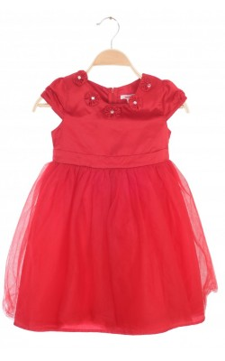 Rochie satin si voal Twinkle, 6 ani