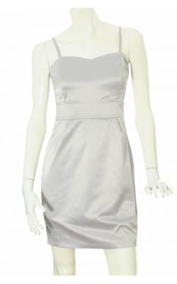 Rochie satin stretch gri B.Young, marime 38