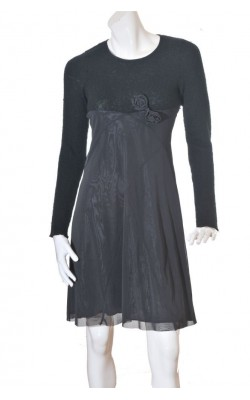 Rochie Sirup, tricot si voal, marime 38