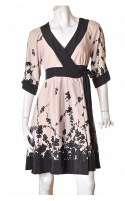 Rochie taupe print negru Stockh lm, marime 34