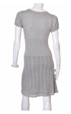 Rochie tricot ajurat gri Vero Moda, marime S