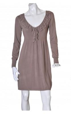 Rochie tricot fin taupe Va Vite, marime 38