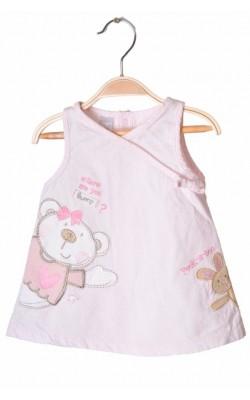 Rochita roz catifea reiata Babies Rus, 0-3 luni