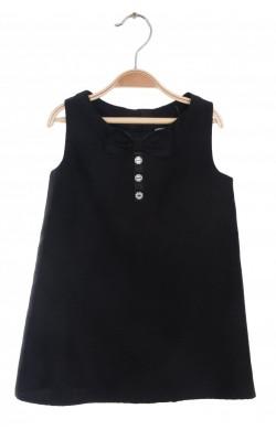Rochita satin negru cu fundita H&M, 2-3 ani