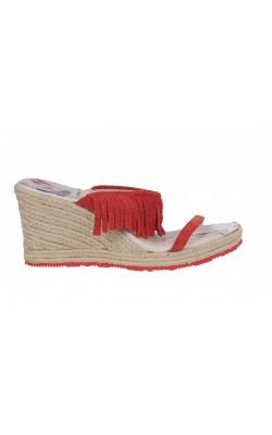 Sandale rosii Pepe Jeans, piele, marime 39 calapod lat