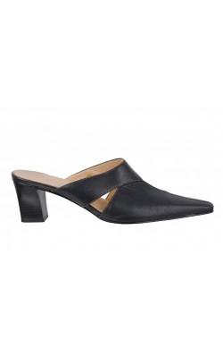 Sandale din piele neagra Moda, marime 39