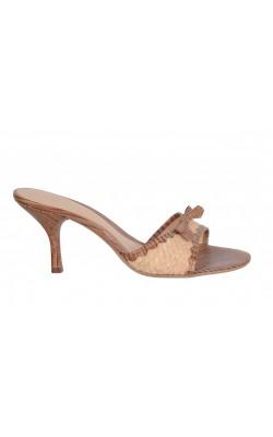 Sandale Nine West, piele si rafie, marime 37.5