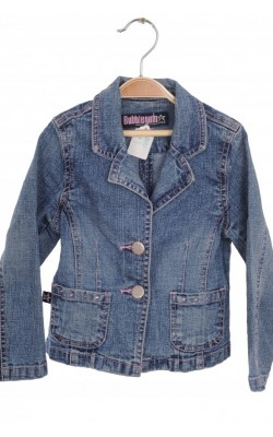 Sacou cambrat denim stretch Bubble Gum, 18 luni