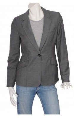 Blazer gri stretch H&M, model cambrat, marime 42