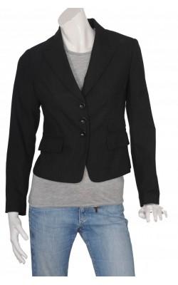 Blazer cambrat negru in dungi fine H&M, marime 40