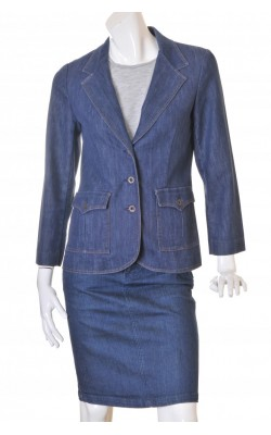 Blazer cambrat din denim Koret City Blues, marime 40