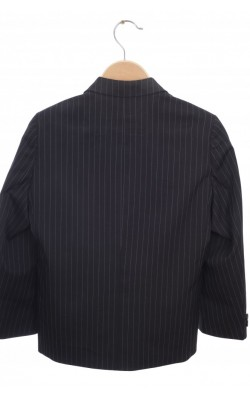 Sacou negru, dungi fine albe, 7-8 ani