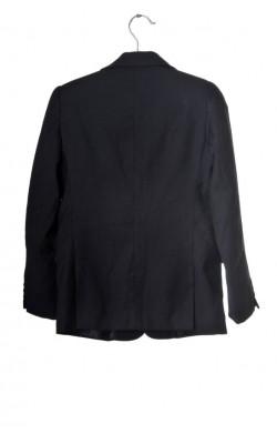 Sacou negru Trax, bumbac si lana, 10 ani