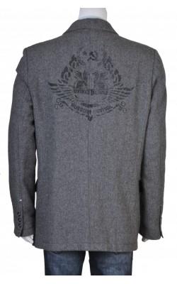 Blazer stofa lana Solid Jeans, marime XL