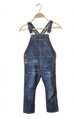 Salopeta denim rupturi decorative H&M, 2-3 ani