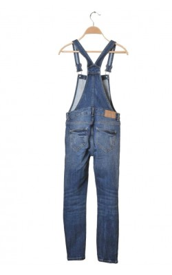 Salopeta denim stretch Detroit by Lindex, 9-10 ani