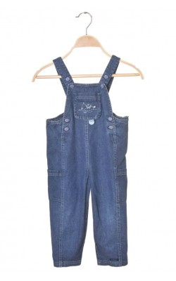 Salopeta denim subtire Alphabet, 3-4 ani
