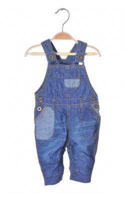 Salopeta denim subtire George, 0-3 luni