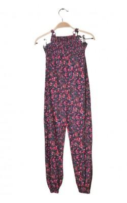 Salopeta jerseu print floral Cubus, 6-7 ani