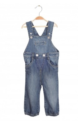Salopeta Name It, denim, 9-12 luni