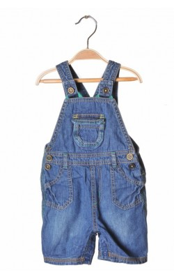 Salopeta scurta denim George, 12-18 luni