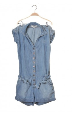 Salopeta scurta denim subtire Yeans Please by Cubus, marime 34