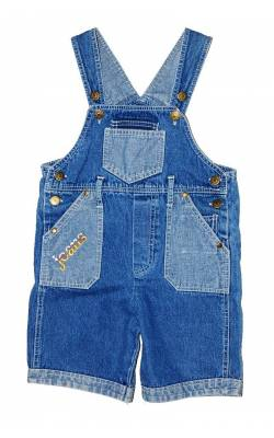 Salopeta TKF, denim, 10 ani