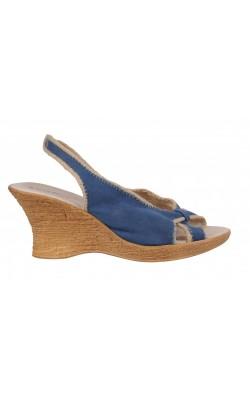 Sandale albastre Bianco, textil si piele naturala, marime 37.5