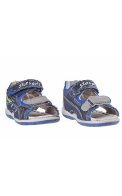 Sandale albastre cu gri Bobbi Shoes, marime 22