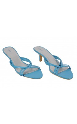 Sandale albastre cu toc Fioni, marime 38