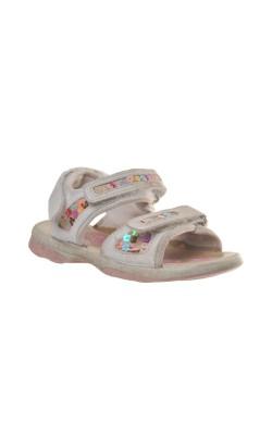 Sandale albe Canguro, marime 27